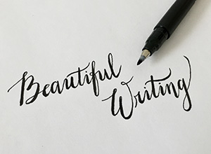 writing calligraphy